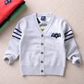 Nueva marca de otoño invierno de los niños sudaderas punto niños niñas suéter suéteres de los niños ropa de niño