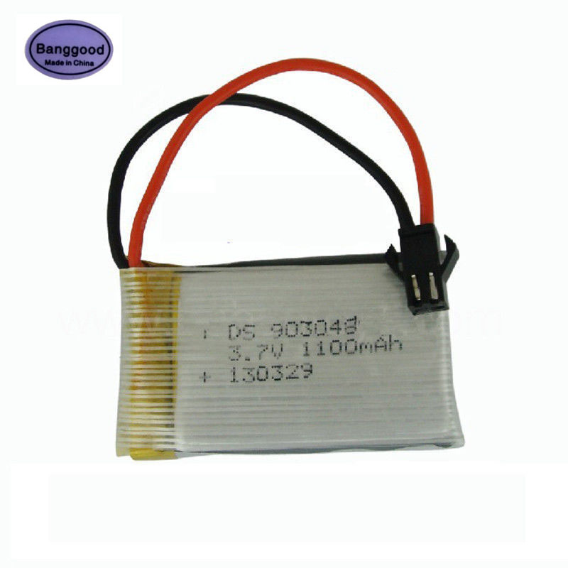 High Quality 3.7V 1100mAh 903048 Lipo Battery SM plug for Remote Control Helicopter Car Toys image