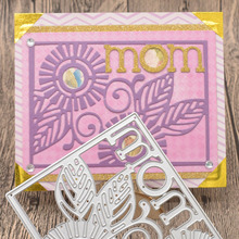 Mom Letter Metal Cutting Dies Words for Mother's Day Scrapbooking Album Card Making Paper Embossing Die Cuts