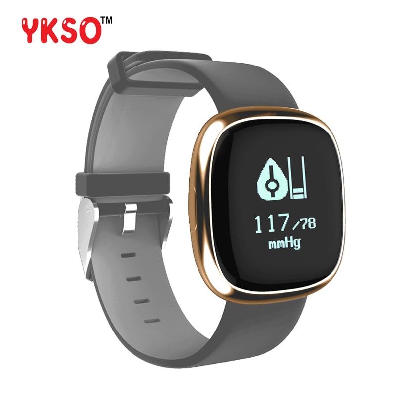YKSO P2 Heart Rate Measure Smart Band Watch Blood Pressure Monitor Smartband Pedometer Fitness Tracker Bracelet Wristband Watch