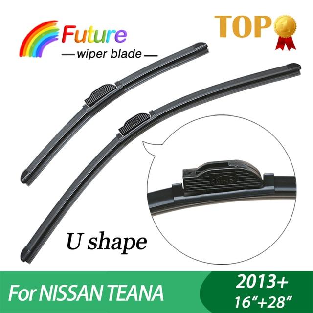 "Winscreen coche limpiaparabrisas para NISSAN TEANA (2013 +), 16 ""+ 28"", Sin Hueso, parabrisas, limpiaparabrisas de goma"