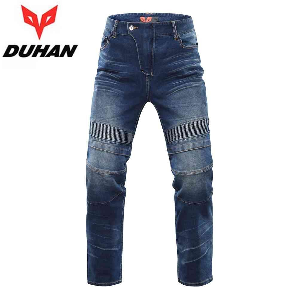 DUHAN Men's Motorcycle Riding Jeans Trousers Motorbike Motocross Cross-country Knee Protective Racing Pants Casual Pants