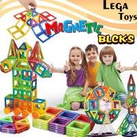 158pcs Mini Magnetic Designers Construction Set Building Blocks Model Plastic Magnetic Blocks Educational Toys For Children