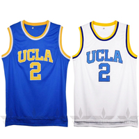 VTURE Lonzo Ball 2 College Basketball Jerseys White Blue Colors Throwback Breathable Students Men S Jersey
