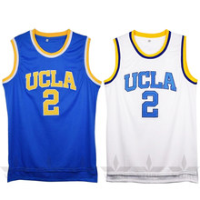 df9d1214f70 VTURE Lonzo Ball #2 College Basketball Jerseys White/Blue Colors Throwback  Breathable Students Men's