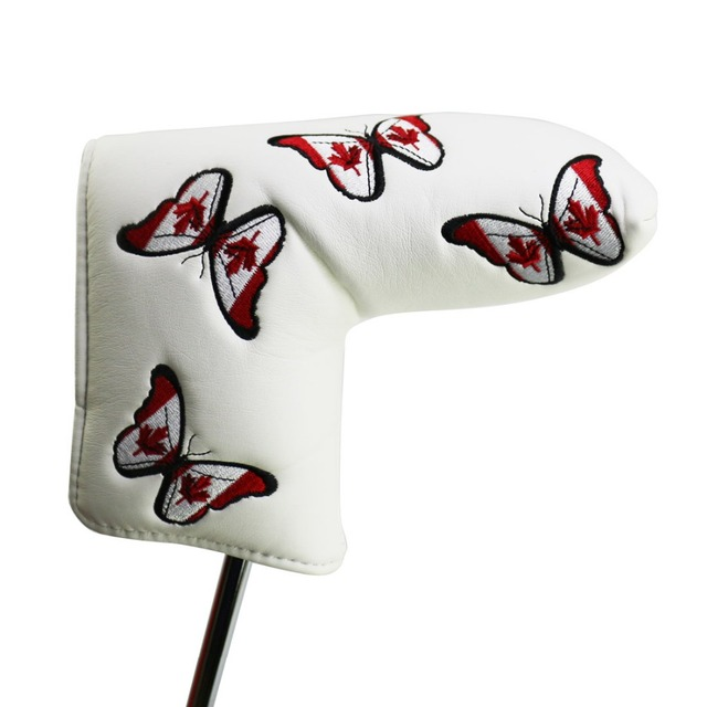 Golf Putter Head Covers For Golf Cameron Putter-Canada Flag Embroidery  Headcover