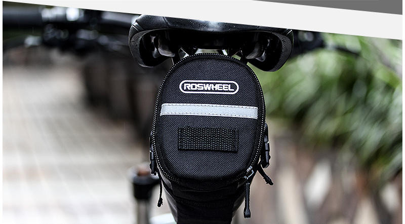 ROSWHEEL 1.2L Portable Waterproof Bike Saddle Bag Cycling Seat Pouch Bicycle Tail bags Rear Pannier Cycling equipment 28
