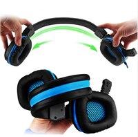 Одежда высшего качества R8 r8 стерео светодиодный сверкающих игровой наушники с микрофоном Gamer MSN для ПК laptap гарнитура