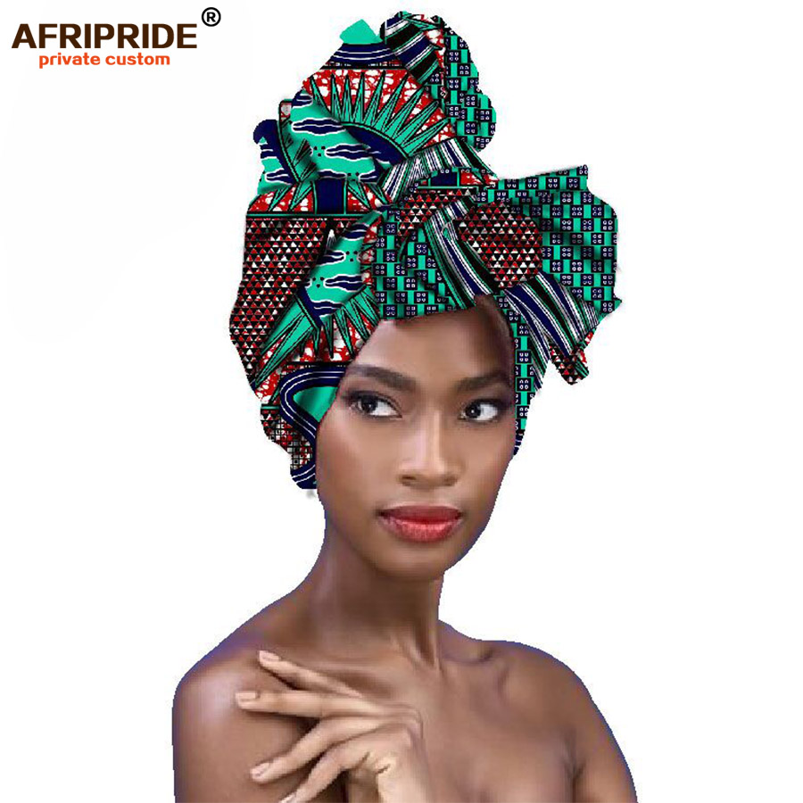 2018fashion african head Scarf print cotton wax high quality african scarf for women african