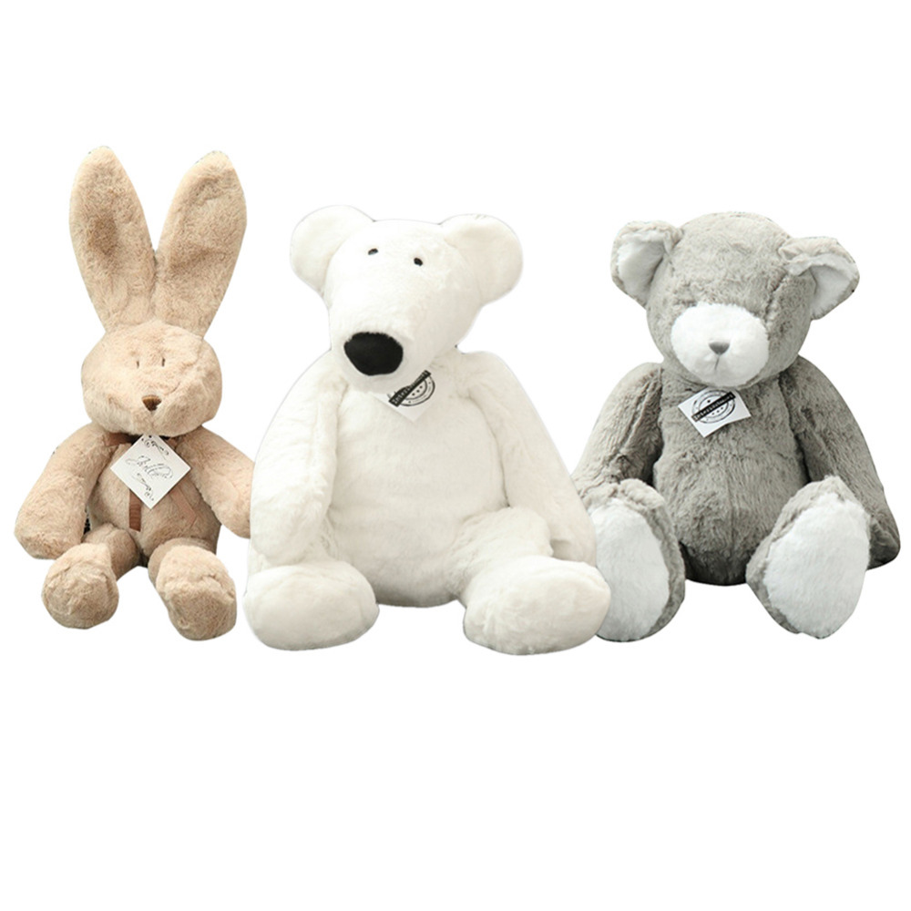 Cute Rabbit Polar bear soft Plush Stuffed Toys Pillow Birthday Gift Cushion Grizzly Doll Kawaii animals Plush Toys for children 13 inch kawaii plush soft stuffed animals baby kids toys for girls children birthday christmas gift angela rabbit metoo doll