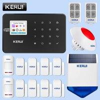 KERUI W18 беспроводная домашняя WiFi GSM система охранной сигнализации наружная Солнечная сигнализация инфракрасный индукционный детектор движе