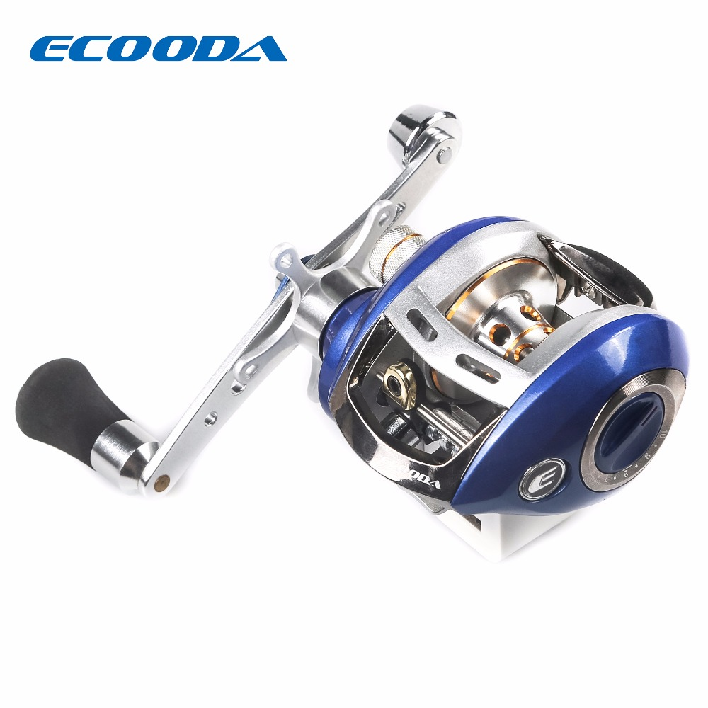 ECOODA 4+1BB Ball Bearing Casting Reel 6.2:1 Gear Ratio Fishing Reel Max Drag 4kg Gear Bait Casting Magnetic brake System