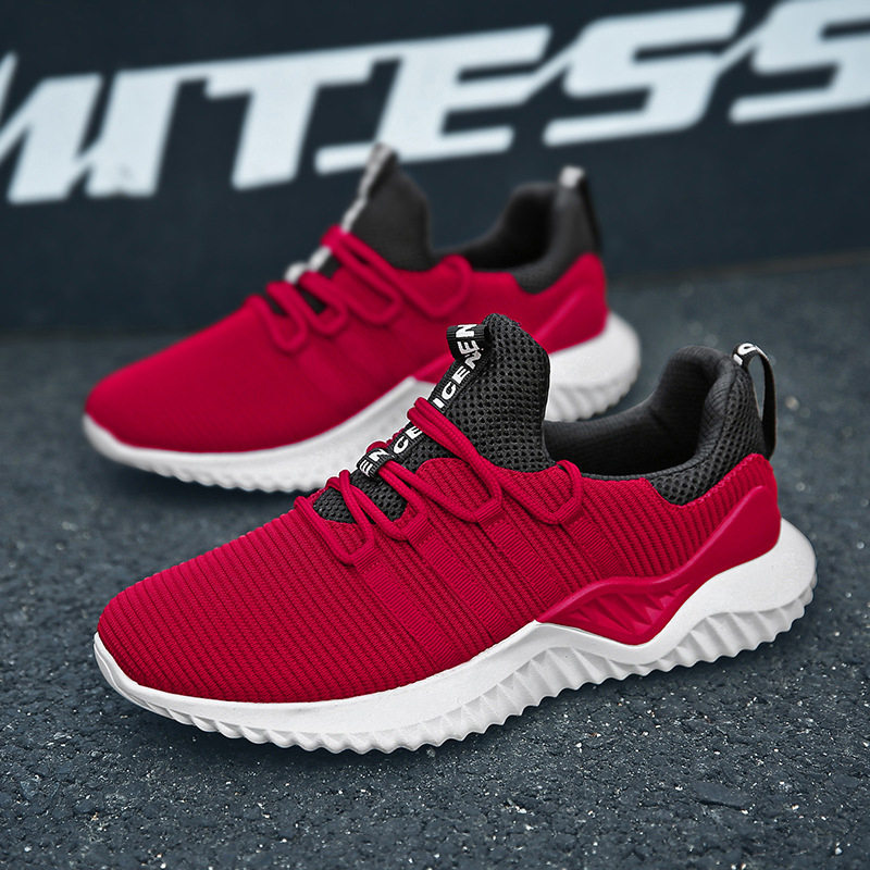Cheap New Hot Sale Four Seasons tennis Shoes Men Lace up Athletic Trainers Zapatillas Sports Male Shoes Outdoor Walking Sneakers in Tennis Shoes from Sports Entertainment