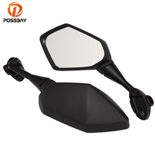 POSSBAY Motorcycle Mirror Black Side Motorbike Rear View Mirrors Scooter Rearview for Kawasaki Z1000