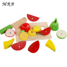 Baby toys The Simulation of Fruits and Vegetables Kitchen toys Montessori Education Wooden toys for Children early food toys