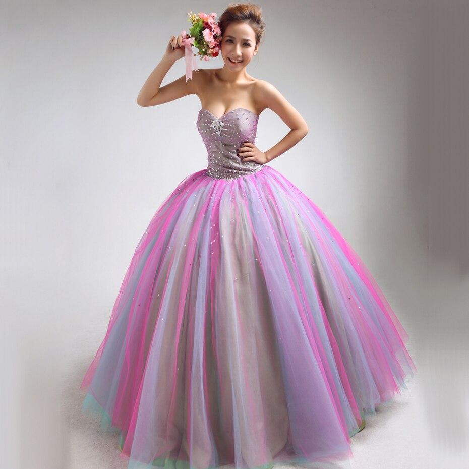2a01163801c Dora multicolour . 2013 tube top diamond princess wedding dress ...