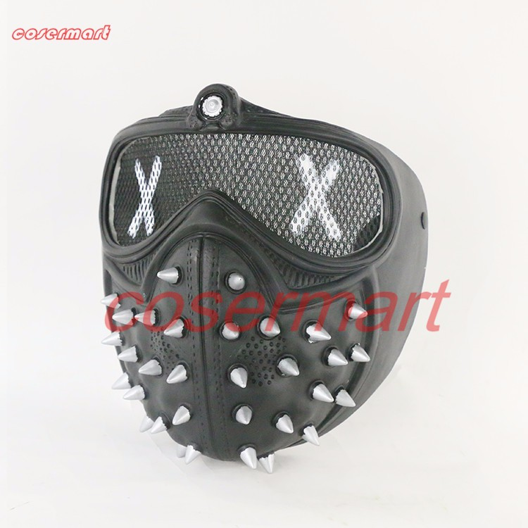 Game Cosplay Mask Watch Dogs 2 Mask Marcus Holloway Mask Casual Tangerine Mask Halloween Party Prop (7)