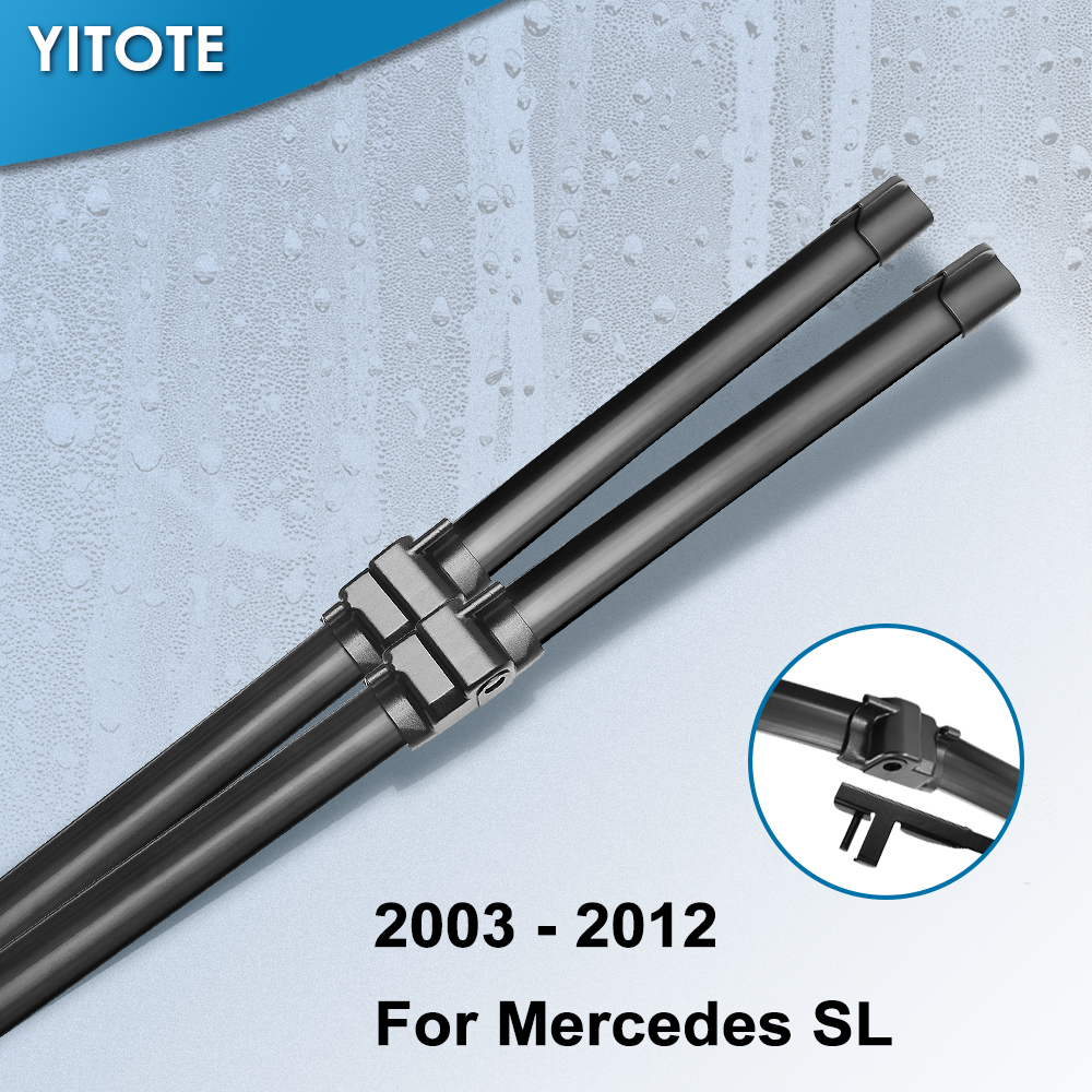 YITOTE Wiper Blades for <font><b>Mercedes</b></font> Benz <font><b>SL</b></font> Class R230 Fit Side Pin Arms <font><b>SL</b></font> 280 300 350 <font><b>500</b></font> 600 55 65 AMG image