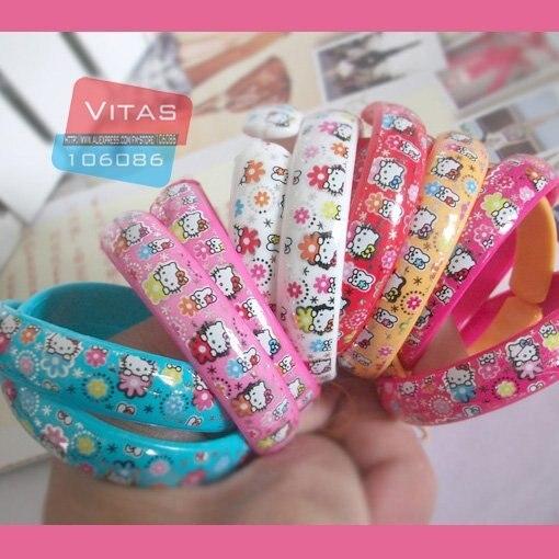 Hotsale! Hello Kitty bracelet/Cartoon bangle/Lovely/Gift jewelry/ Fashion Bracelet/Free shipping/12PCS/pack