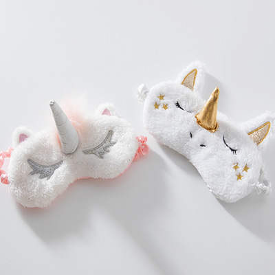 1PC Unicorn Cute Sleeping Mask Eye Shade Cover Patch for Girl Kid Teen Blindfold Travel Makeup Eye Care Tools Night Accessories