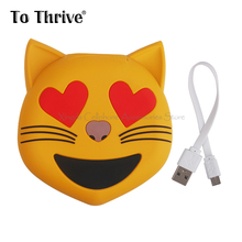 2000mAh Cute Cartoon Cat Energy Financial institution Charging For Cellular Cell Telephone Iphone Xiaomi Transportable Battery Charger