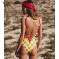 2018 Sexy One Piece Swimsuit Women Swimwear Push Up Monokini Padded Swim Suit Bandage Bodysuit Bathing Suit Summer Beachwear 4