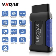 NexzDAS ND201 ECU Auto Scanner Mechanic Helper Full-System Diagnostic Tool Code Reader Bluetooth 4.2 For Android OBD2 Scanner
