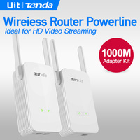 Tenda PH15 1000M Wireless Router Powerline Extender Kit 2 1000M Electric Power Rate Ethernet Adapter PLC