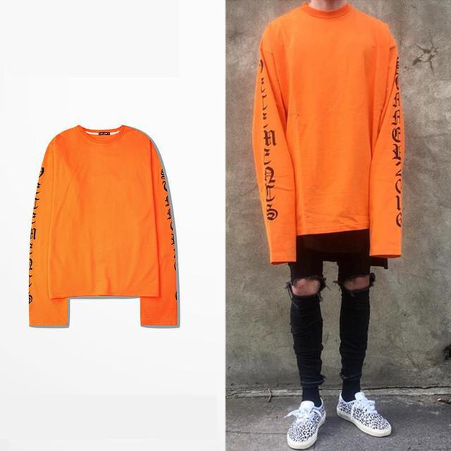 TOP VETEMENTS Oversize Extra Long Sleeved T shirt Swag Street ...