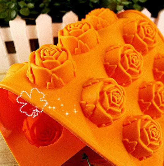 Romantic Rose Style Anti Adhesion Cake Mould Reusable