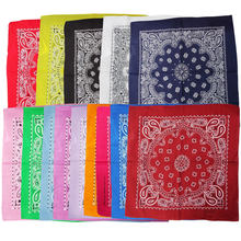 15 Colors Cute Women Print Bandana Scarf Square Head Scarf Female Motorcycle Headwear Outdoor Cool Activities Riding Collar(China)