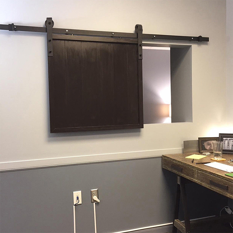 Carbon Steel REAL Mini Barn Door Barn Sliding Door Hardware For Bathroom Cabinet
