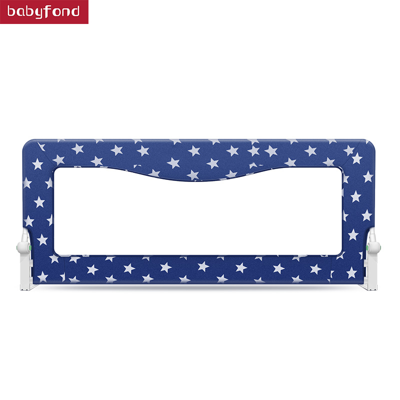 One Button Folding Crib Guardrail Baby Fence Shatter-resistant Bed Bar 2 Meters 1.8 Meters 1.5 Meters Tomorrow Sky