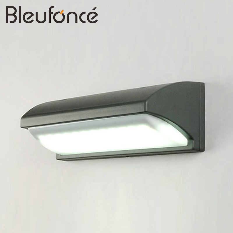 Outdoor Waterproof LED Wall Lamp Lighting Waterproof Porch Garden light Modern Aluminum 10W LED Sconce Outdoor Wall Lamps BL12 modern brief waterproof anticorrosive black aluminum led 2 5w outdoor wall lamp for garden entrance street porch light 1580