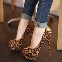 Shofoo shoes.2016 neues freies verschiffen, schwarz wildleder leopard, runde toe pumps, frauen schuhe, damen high heels. GRÖßE: 34-45