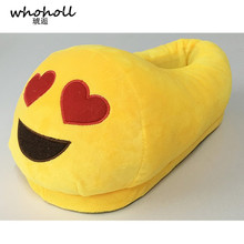 2018 Emoji Slippers Cartoon Sweet Warm Plush Slipper Men Women Slippers Spring/Autumn/Winter House Shoes Styles Ulrica yellow kncokar slippers cartoon sweet warm plush slipper men women slippers spring autumn winter house shoes 17 styles ulrica yellow