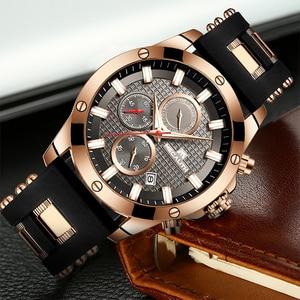 Image 2 - MEGALITH Fashion Chronograph Men Watches Date Silicone Strap Sports Quartz Watch Men Luminous Waterproof Clock Relogio Masculino