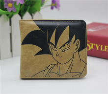 Japan anime Dragon Ball Z coin wallet Son Goku Cosplay men women Bifold Purse