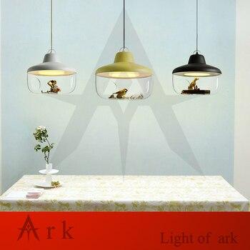 Mini dekoracje z żywicy miniaturowa szklana doniczka led Microlandschaf lampa wisząca wróżka terrarium doniczkowa wystrój ogrodu miniatura