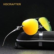 2017 Rose Gold Fox Mirror Sunglasses Women Polarized Aviation Rimless Sunglasses HD Luxury Brand Designer Ladies Eyewear Elegant