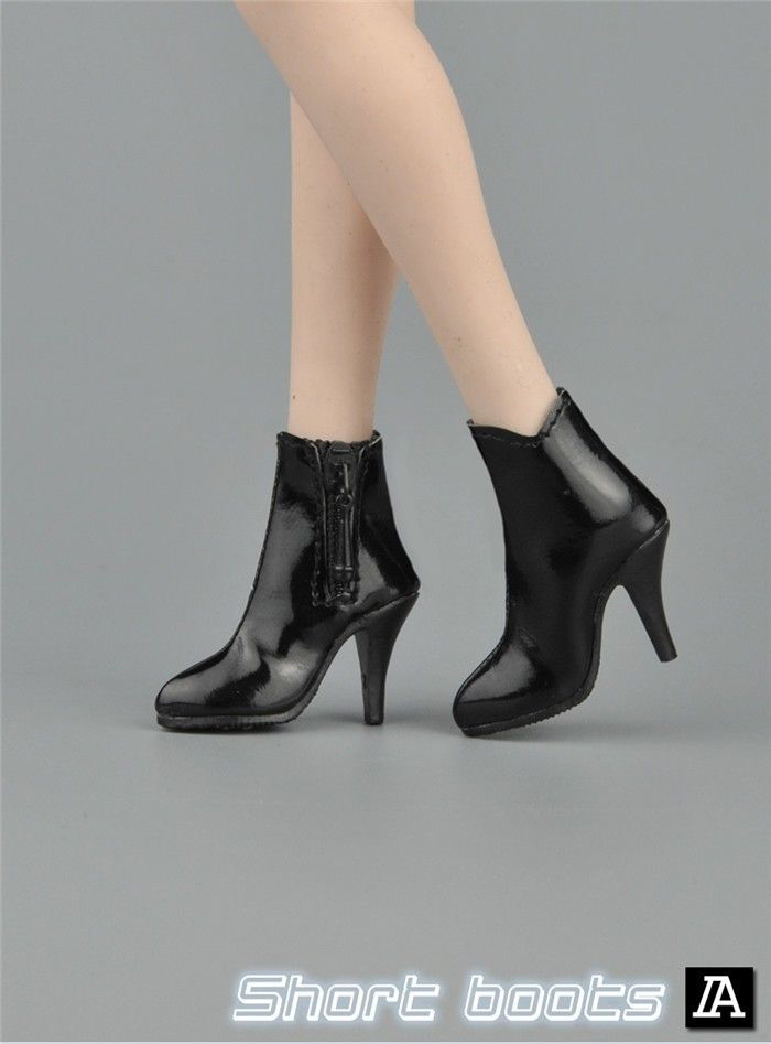 1//6 High Heel Boots Shoes for 12/'/' ZY HOT TOYs Phicen Female Action Figure