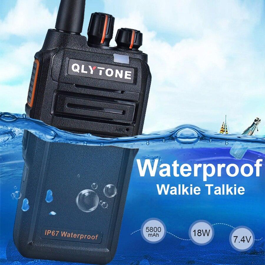 Cleiree 18W High Power Waterproof Handheld Walkie Talkie Portable Radio 400-520MHz Professional Communicator HF Transceiver