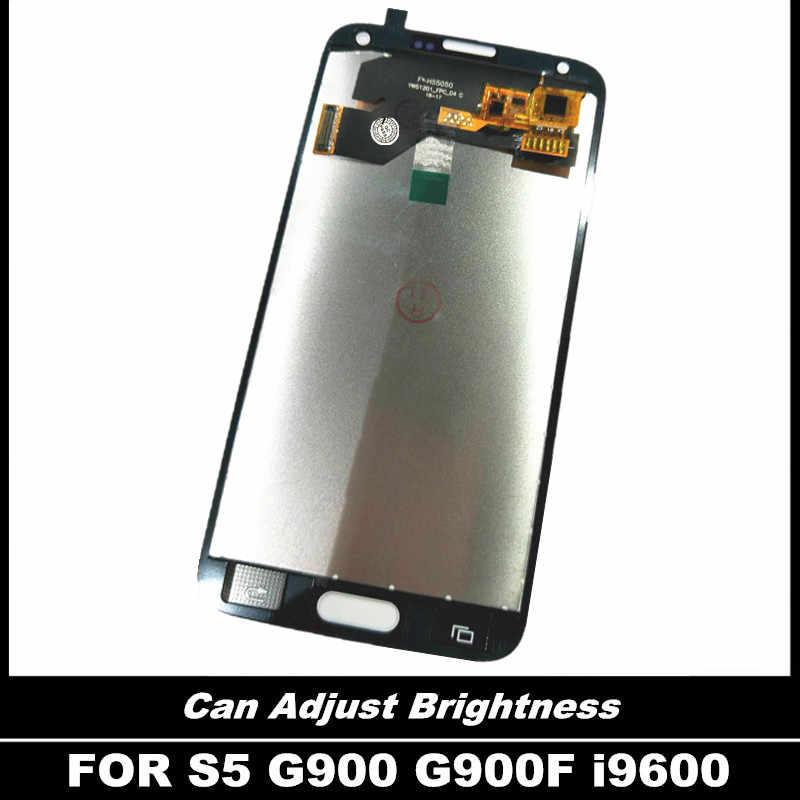 100% Được Kiểm Tra MÀN HÌNH LCD Thay Thế Dành Cho Samsung Galaxy Samsung Galaxy S5 i9600 G900 G900F G900A Điện Thoại Màn Hình LCD Màn Hình với Bộ Số Hóa Cảm Ứng