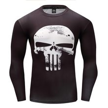 Punisher 3D Printed T-shirt Men Compression Shirts Long Sleeve Cosplay Costume crossfit fitness Clothing Tops Male Black Friday(China)