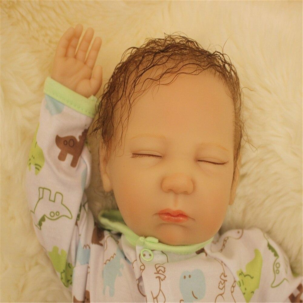SanyDoll 20 inch 50 cm Silicone baby reborn dolls, Lovely doll sleeping doll, boy and girl holiday gift