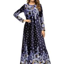 Мусульманское женское платье с длинным рукавом, бархатное, с вышивкой, Дубай, макси, abaya jalabiya, Исламская одежда для женщин, халат, кафтан, Марокканское, 7322