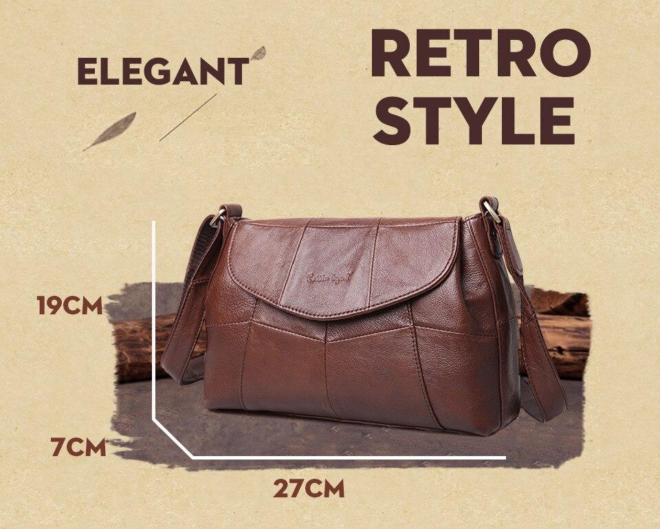 bolsas حقائب الكتف النسائية جلد طبيعي العلامة التجارية 3