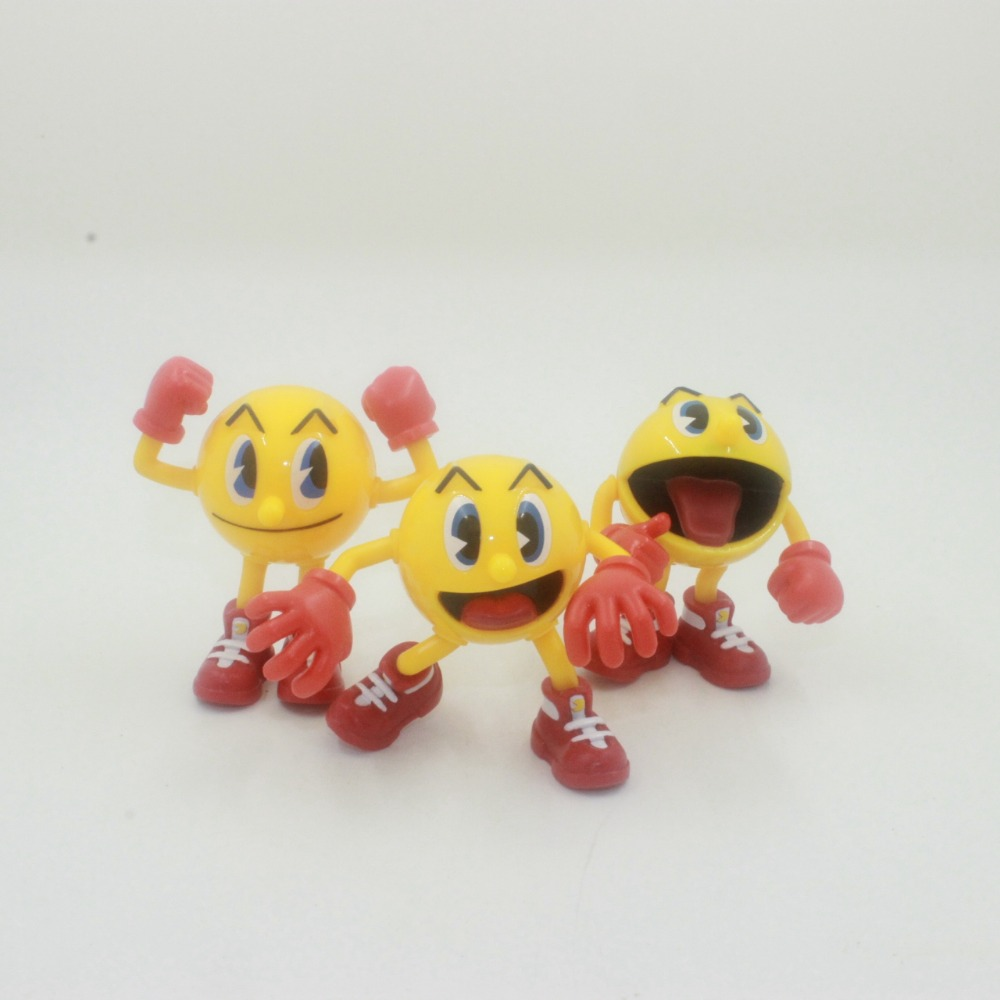 3pcs lot Pac Man Cute cartoon THE GHOSTLY ADVENTURES action figure