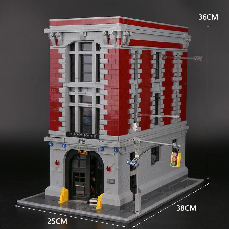 Ghostbusters Feuerwache Hauptsitz 16001 Modell Educational Building Kits Blöcke Spielzeug set Kompatibel mit Legoings 75827-in Sperren aus Spielzeug und Hobbys bei  Gruppe 2