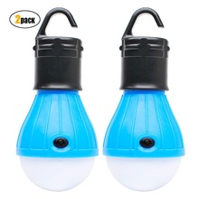 2 Pack Sanniu Portable LED Lantern Tent Light Bulb for Camping Hiking Fishing Emergency Light, Battery Powered Camping Equipment new led flashlight lantern 2 in 1 portable small led lantern black blue red battery powered camping light flashlights for hiking